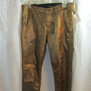 J BRANDS Bronze Super Skinny Mid-Rise Jeans